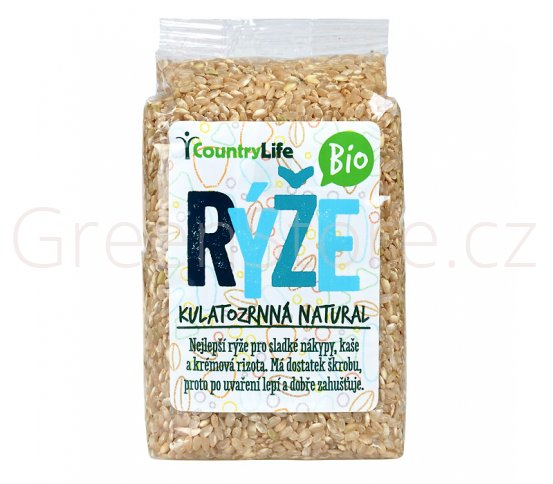 Rýže kulatozrnná natural 500g BIO Country Life