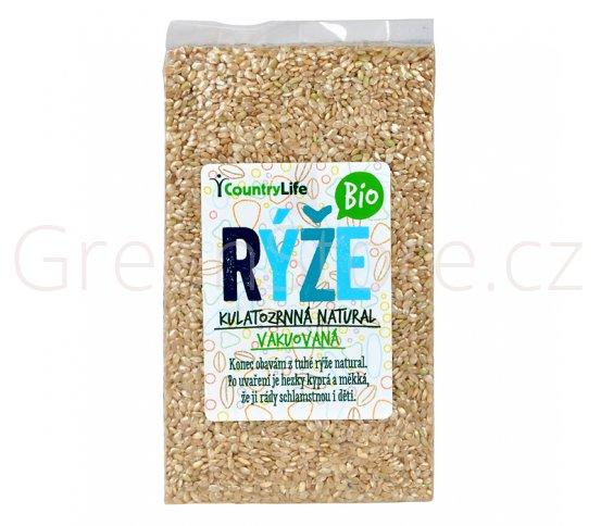 Rýže kulatozrnná natural vakuovaná 1kg BIO Country Life