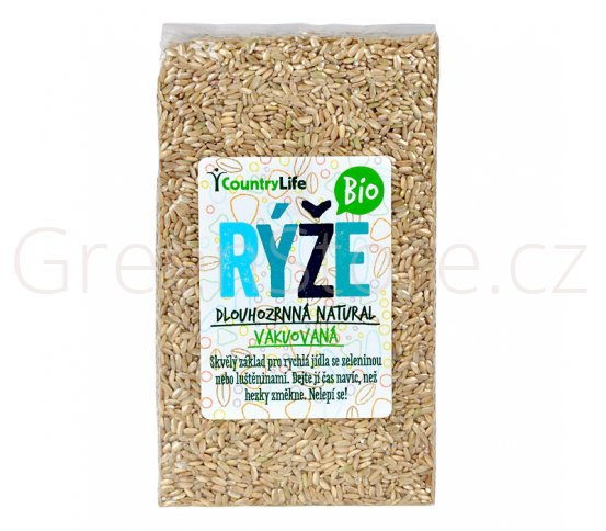 Rýže dlouhozrnná natural vakuovaná 1kg BIO Country Life