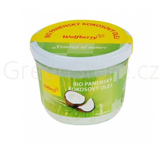 Olej kokosový panenský 200ml BIO WOLFBERRY