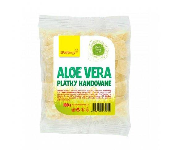 Aloe vera kandované plátky 100g Wolfberry