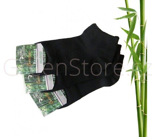 Bambusové ponožky dámské kotníkové, černé 35-38, 3 páry