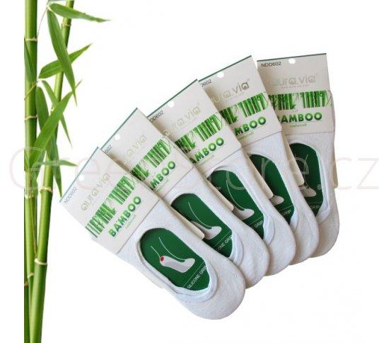 Bambusové ponožky dámské nízké, bílé 35-38, 5 párů