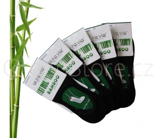 Bambusové ponožky dámské nízké, černé 38-41, 5 párů