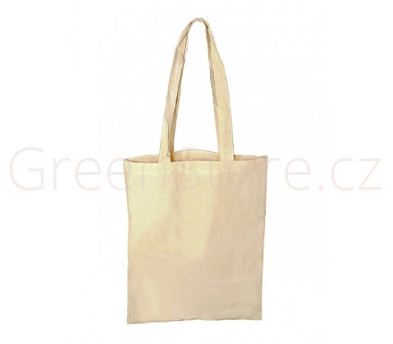 Bavlněná taška s dlouhým uchem 32x40cm - natural