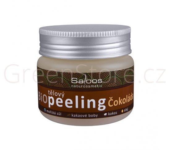 BIO tělový peeling čokoláda 140ml Saloos