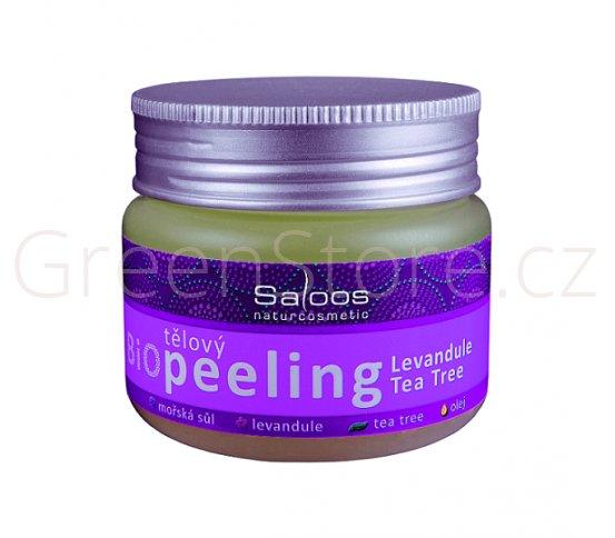 BIO tělový peeling Levandule & Tea Tree 140ml Saloos