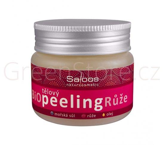 BIO tělový peeling růže 140ml Saloos