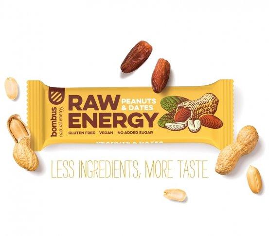 Bombus Raw Energy Tyčinka Peanuts Amp Dates 50g Greenstore Cz