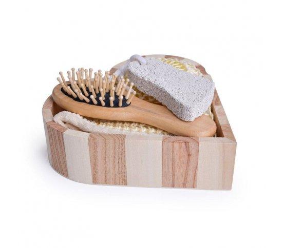 GoEco Koupelnový set v dřevěné kazetě