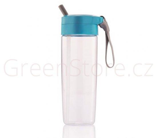 XD Design Sportovní láhev s brčkem 600ml - modrá