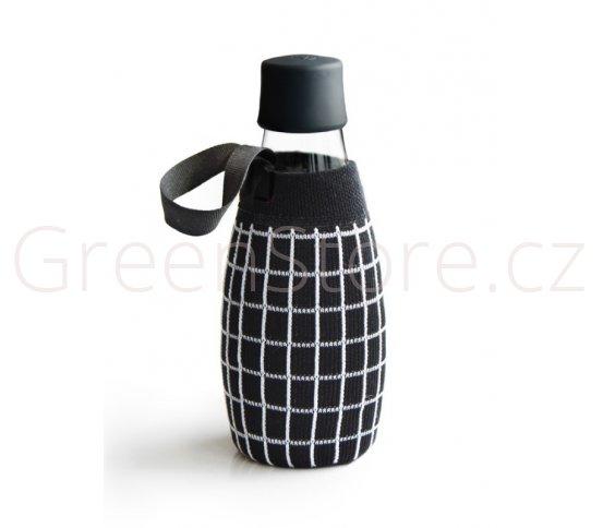Obal na láhev ReTap 0,5l - černý s mřížkou