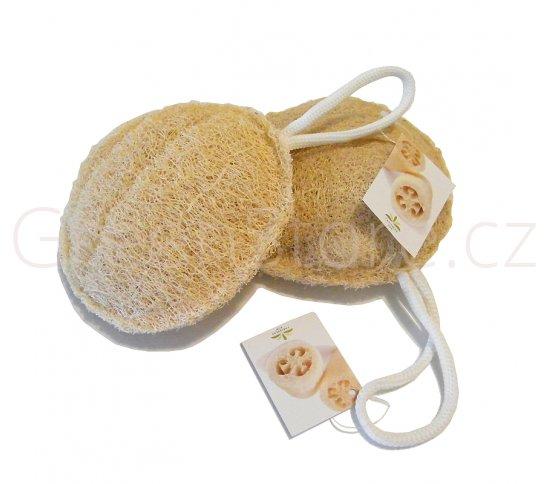 Peelingový a koupelový puf z lufy 15cm Caribbean Sun