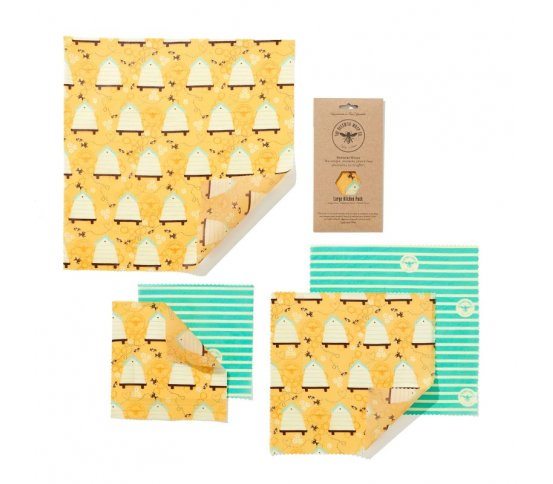 Sada 5ks voskovaných ubrousků Bee Hive The Beeswax Wrap