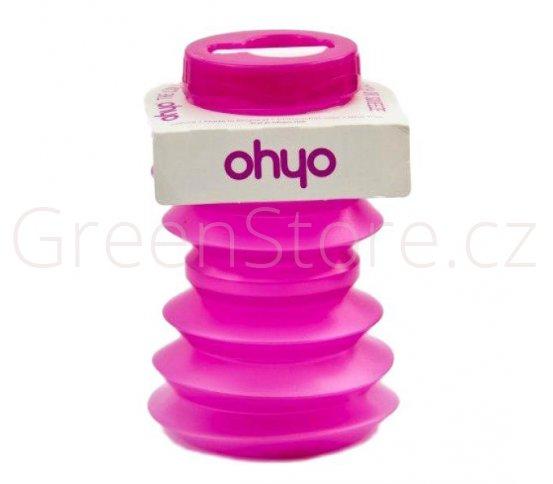Skládací lahev Ohyo 500ml - růžová