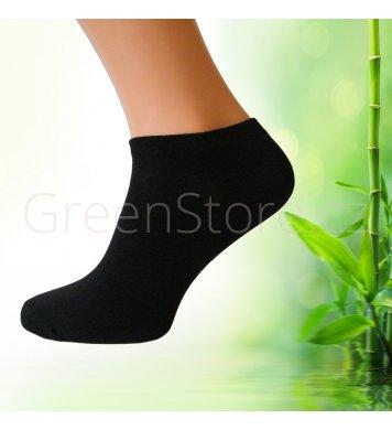Pánské kotníkové ponožky z bambusu černé ab2bd2a0fa