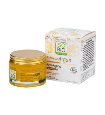 BIO Gel noční Anti-age Argan 40ml SO´BIO