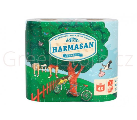 Toaletní recyklovaný papír - 4 role Harmasan