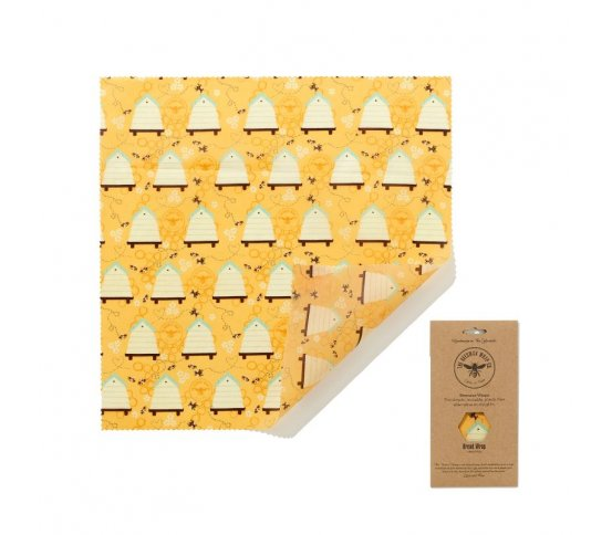 Voskovaný ubrousek na chleba 50x50cm - Bee Hive The Beeswax Wrap