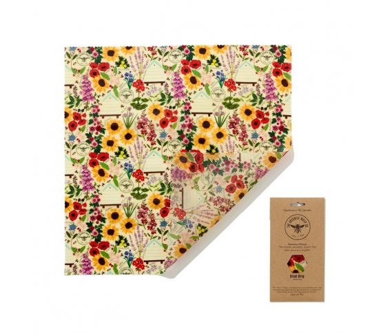 Voskovaný ubrousek na chleba 50x50cm - Floral The Beeswax Wrap