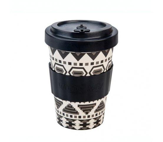 Woodway Kelímek na kávu z bambusu 400ml - Aztec