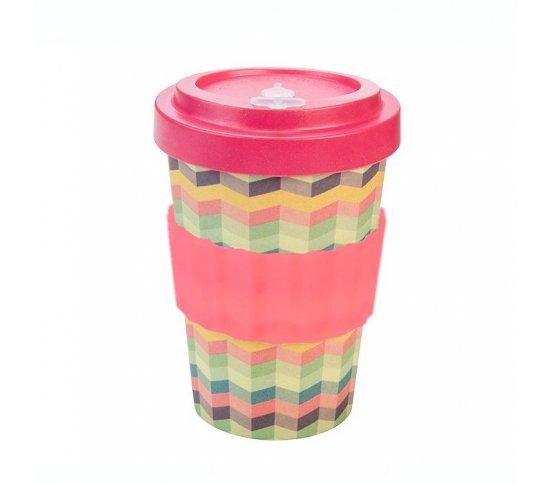 Woodway Kelímek na kávu z bambusu 400ml - Zig-Zag