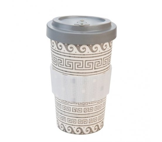 Woodway Kelímek na kávu z bambusu 500ml - Greek