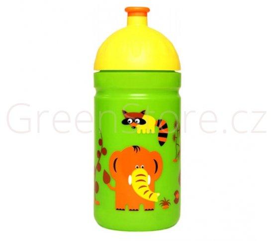 Zdravá lahev Zvířátka 0,5l R&B Mědílek + špuntík zdarma