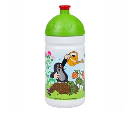 Zdravá lahev 0,5l Krtek zelený - R&B Mědílek + špuntík zdarma